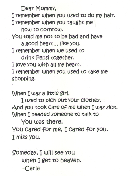 A Girl's Heartfelt Letter to Her Mother – SERVE BOLDLY
