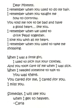 Karla's letter