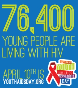 76, 400 young people are living with HIV.