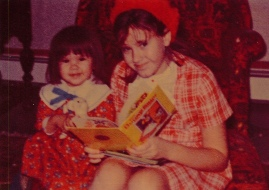 me reading w my sister rosa